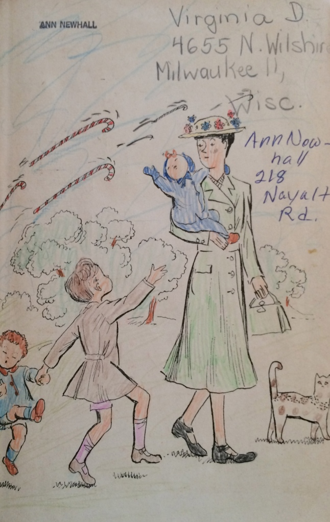 Mary Poppins Opens the Door by P.L. Travers Originally my mother's, I added my name and address. I don't know who colored the illustrations!