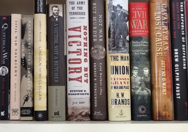 A few books from Jeff's Civil War collection.