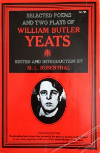 Circa 1980; my copy of the Selected Poems of W.B. Yeats
