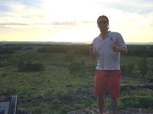 Charlie at Gettysburg, May 26, 2014