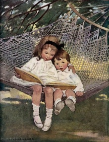 children-on-a-hammock