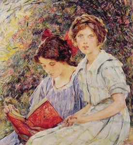 Robert_Lewis_Reid_-_Two_Girls_Reading